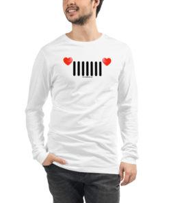 Jeep Hearts Grill Unisex Long Sleeve Tee Long Sleeve T-Shirt Hearts