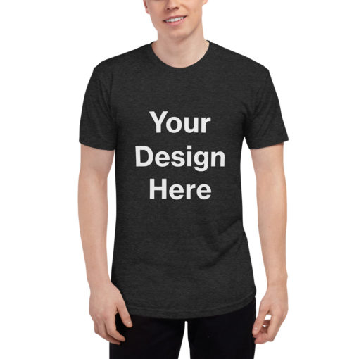 YOUR Design on this Unisex Tri-Blend Track Shirt   American Apparel TR401 Unisex
