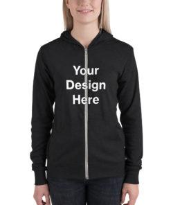 YOUR Design on this Unisex Lightweight Zip Hoodie | Bella + Canvas 3939 Unisex