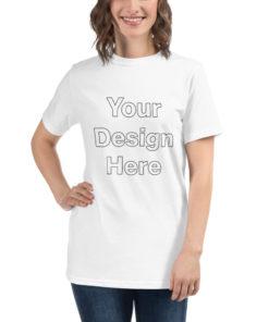 YOUR Design on this Unisex Organic T-Shirt Unisex