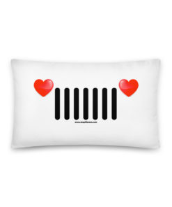 Jeep Hearts Grill Basic Pillow Pillows Hearts