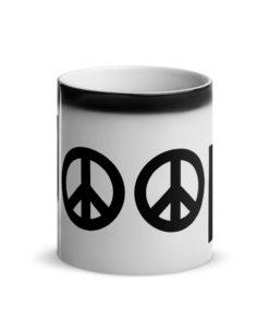Jeep Peace Logo Glossy Magic Mug Mugs Peace