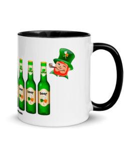 Saint Patrick Jeep Grill Mug with Color Inside Mugs Beer