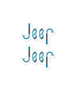 Jeep Snorkeling Bubble-free stickers (X2) Stickers Snorkeling