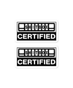 Jeep XJ ShitBox Certified stickers