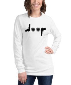 Jeep Guns Bullet Holes Logo Unisex Long Sleeve Tee Long Sleeve T-Shirt Bullets