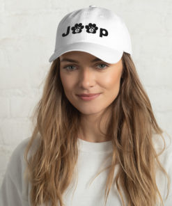 Jeep Black Paw Logo Dad hat Caps Paw