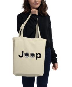 Jeep Bullet Holes Logo Eco Tote Bag Tote Bullets