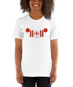 Jeep Grill Canada Flag Short-Sleeve Unisex T-Shirt T-Shirts Canada