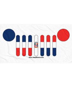 Jeep Grill Dominican Republic Flag Towel Towels Dominican Republic