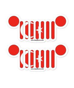 Jeep Grill Turkey Flag Bubble-free stickers (X2) Stickers Turkey