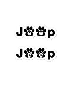 Jeep Black Paw Logo Bubble-free stickers (X2) Stickers Paw