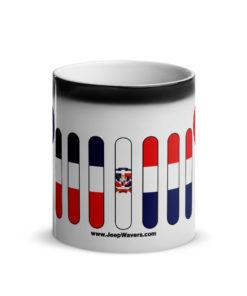Jeep Grill Dominican Republic Flag Glossy Magic Mug Mugs Dominican Republic