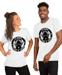 I Love Guns, Titties & Jeeps Black Design Short-Sleeve Unisex T-Shirt T-Shirts Gun