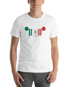 Jeep Grill Mexico Flag Short-Sleeve Unisex T-Shirt T-Shirts Mexico