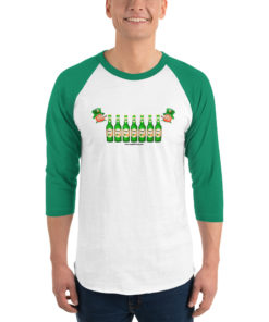 Saint Patrick Jeep Grill Unisex 3/4 sleeve raglan shirt 3/4 Sleeve Raglan Shirts Beer