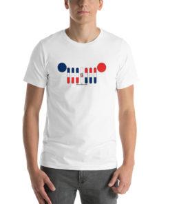 Jeep Grill Dominican Republic Flag Short-Sleeve Unisex T-Shirt T-Shirts Dominican Republic