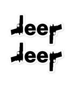 Jeep Gun Bubble-free stickers (X2) Stickers Gun