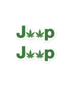 Jeep Cannabis stickers