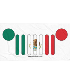 Jeep Grill Mexico Flag Towel Towels Mexico