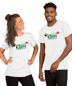 Jeep Grill South Africa Flag Short-Sleeve Unisex T-Shirt T-Shirts South Africa