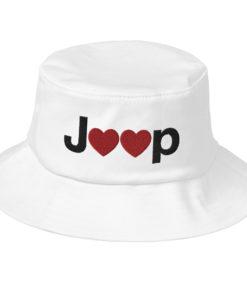 Jeep Hearts Logo Old School Bucket Hat Buckets Hearts