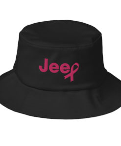 Jeep Breast Cancer Old School Bucket Hat Buckets Breast Cancer