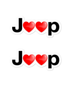 Jeep Hearts Bubble-free stickers (X2) Stickers Hearts