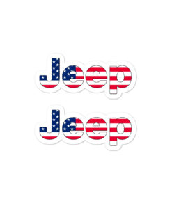 Jeep USA Flag stickers