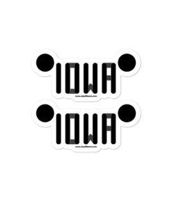 Iowa Jeep Grill Bubble-free stickers (X2) Stickers Iowa