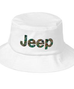 Jeep Camo Logo Old School Bucket Hat Buckets Camouflage
