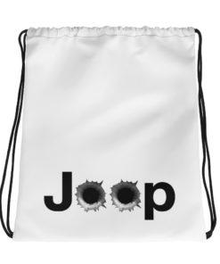 Jeep Bullet Holes Logo Drawstring bag Drawstring Bullets