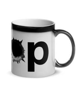 Jeep Bullet Holes Logo Glossy Magic Mug Mugs Bullets