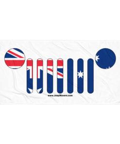 Jeep Grill Australia Flag Towel Towels Australia