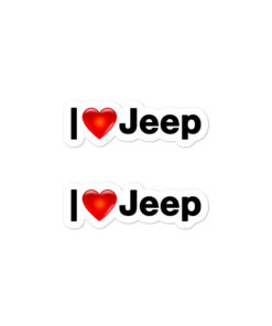 I Love Jeep stickers