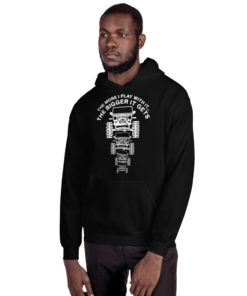 The More I Play With It… (White Design) Unisex Hoodie Hoodies The More I Play With It