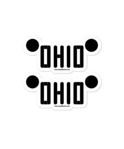 Ohio Jeep Grill Bubble-free stickers (X2) Stickers Ohio