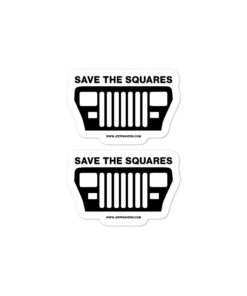 Jeep Save The Squares YJ stickers