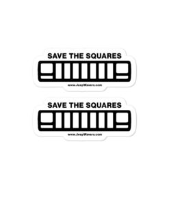 Save The Squares Jeep XJ Grill Version Bubble-free stickers (X2) Stickers Jeep XJ