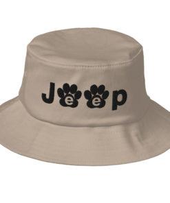 Jeep Paw Logo Old School Bucket Hat Buckets Paw