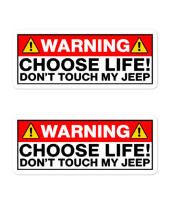 Choose Life… Bubble-free stickers (X2) Stickers Other