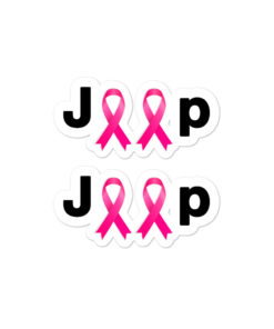 Jeep Breast Cancer Logo Bubble-free stickers (X2) Stickers Breast Cancer