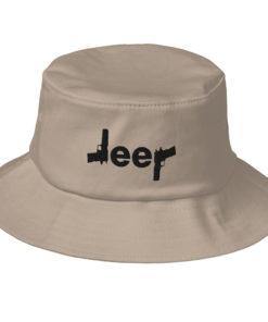 Jeep Guns Logo Old School Bucket Hat Buckets Gun