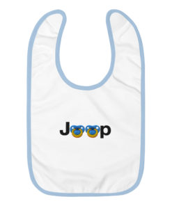 Jeep Pacifier Logo Embroidered Baby Bib Bibs Pacifier