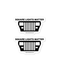 Jeep Square Lights Matter YJ stickers