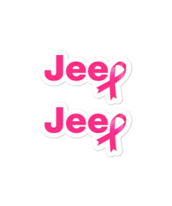 Jeep Breast Cancer Bubble-free stickers (X2) Stickers Breast Cancer