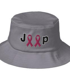 Jeep Breast Cancer Logo Old School Bucket Hat Buckets Breast Cancer