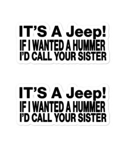 It's A Jeep… Bubble-free stickers (X2) Stickers Other