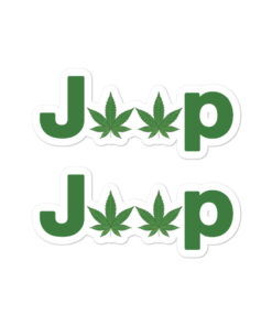 Jeep Cannabis Bubble-free stickers (X2) Stickers Weed