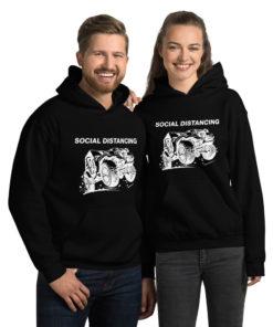 Jeep Social Distancing (White Design) Unisex Hoodie Hoodies Social Distancing